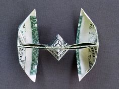 TIE FIGHTER Money Origami - Star Wars by Vincent-the-Artist on Zibbet