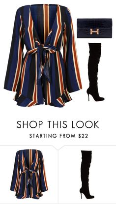 """#260"" by luluuuuuuuuuu ❤ liked on Polyvore featuring WithChic, Christian Louboutin and Hermès"
