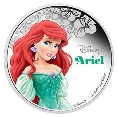 2015 Disney Princess Ariel 1 Oz Fine Silver Proof Coin Limited Edition for sale online Disney Films, Disney Cartoons, Disney Pixar, Walt Disney, Disney Characters, Ariel Disney, Disney Princess Cinderella, Disney Princesses, Proof Coins