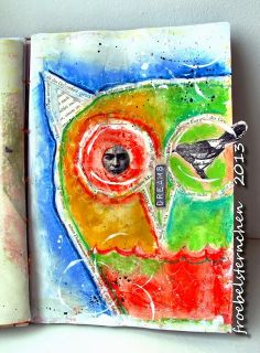 Art Journal Page by Susi Froebelsternchen