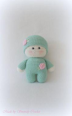✣ Süße Puppe in mintgrün gehäkelt ✣ von ✣  Smoozly Crochet ✣ auf DaWanda.com