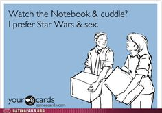 I'll take lightsabers and space battle over depressing memory loss and Nicholas Sparks any day of the week.
