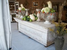Great shop counter with items displayed for fall