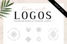 Logo Templates: Davide Bassu - Line Art Logos