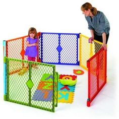 Baby Play Pen Toddler Play Yard 6 Panel Safety Gate Pet Home Portable Compact…