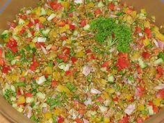 Grünkernsalat, ein gutes Rezept aus der Kategorie Gemüse. Bewertungen: 11. Durchschnitt: Ø 3,9.