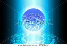 Blue World Future Technology Background Vector Illustration Vector Technology, Technology Background, Globe, World, Illustration, Image, Future, Speech Balloon, Future Tense