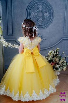 Yellow Flower girl dress First Birthday Dress toddler lace dress tulle dress tutu dress baby dress birthday outfit Flower Girl Dresses Baby Birthday Dress Flower Girl lace Outfit toddler Tulle Tutu Yellow Toddler Flower Girl Dresses, Princess Flower Girl Dresses, Wedding Flower Girl Dresses, Dresses Kids Girl, Toddler Dress, Baby Dress, 2nd Birthday Outfit, First Birthday Dresses, 11th Birthday