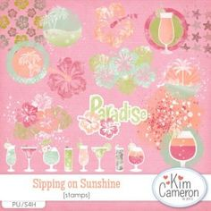 Sipping on Sunshine Stamps