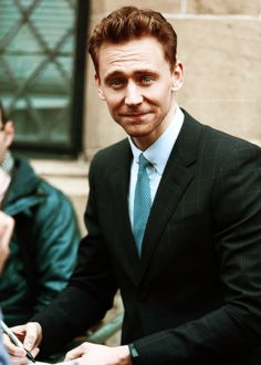 Tom Hiddleston looking dashing as always.