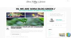 Sora Blog Green Responsive Blogger Template