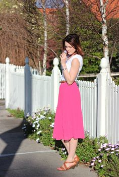 Pink Pleated Skirt - so gorgeous!