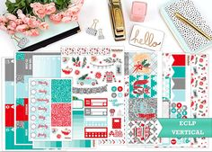 Cozy Christmas sticker kit - Erin Condren vertical - Happy Planner - weekly sticker Kit - Advent holidays by PrettyEasyPlanning 13.90 EUR It contains of a variety of stickers so you can embrace your creativity: functional stickers headers half boxes stackable sidebar full boxes washi full box checklists activity stickers In total you will receive the seven sticker sheets as shown. You can also choose between matte paper or glossy vinyl the washi sheet is also printed in the same finish as…
