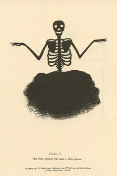 This Black Skeleton Will Make A White Spectre.