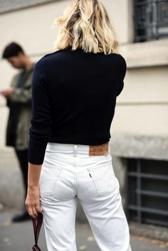 Le Fashion Blog White Denim Street Style Anne Laure Adenorah