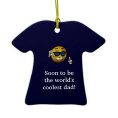 soon to be the worlds coolest dad a ceramic ornament - Dad Christmas Ornament