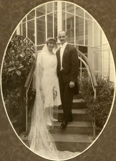 Otto and Edith on their wedding day - May 12, 1925