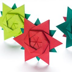 It's never too late to fold a perfect origami star. One sheet, 12 points! Find out how it works.