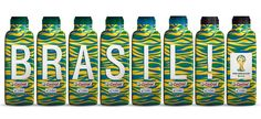 Castrol, another Official Sponsor, is using a unique sleeve design in the colours of Brazil. The optical illusion-like pattern was created by another true-blue Brazilian artist: Cristiano Siqueira.
