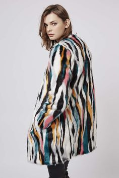 Photo 4 of Multi-Coloured Faux Fur Coat