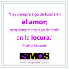 Nietzsche hablando de amor y locura // ISMOS Joyería