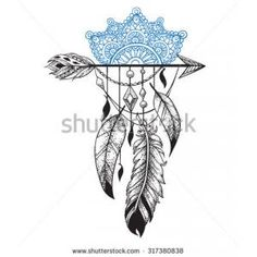 lace feather mandala tattoo - Google Search