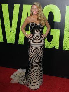 Blake Lively in een Zuhar Murad-jurk @ première van de film Salvages in Los Angeles, 25 juni 2012