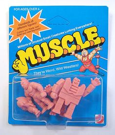 M.U.S.C.L.E. Men...I had a ton of these when I was a kid!  Loved, loved loved these, I even still have a bunch stored away in a box