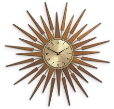 sunburst clock...