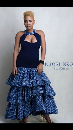 Act Like A Lady, Think Like A Queen . The Nandi Dress now available South African Dresses, African Fashion Skirts, African Attire, African Wear, African Traditional Wedding Dress, Traditional Dresses, Seshweshwe Dresses, Mode Wax, Kente Styles