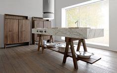 DOLMEN- part of the Convivio collection, this kitchen unit was born of the union between the Italian furniture companyLandoand Enzo Berti.