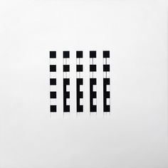 """Dieter Roth / """"AC"""" / 24 individual die-cut black and white sheets, each a different grid or pattern / 1964"""