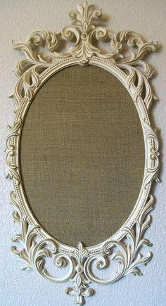 ROMANTIC ORNATE VINTAGE Baroque Frame Magnetic Memo Board & Chalkboard Vintage Wall Mirror-Weddings-Jewelry Board