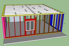 fabrication d'un double garage ossature bois - Page 4 - Forum copain des copeaux Double Garage, My Mets, Garage Storage, Sheds, Facade, How To Plan, Car Shelter, Wood Construction, Home