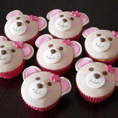 Teddy bear cupcakes perfect for build a bear party! Build A Bear Birthday, Build A Bear Party, Teddy Bear Birthday, Picnic Birthday, Cake Birthday, Birthday Ideas, Birthday Parties, Teddy Bear Cupcakes, Animal Cupcakes