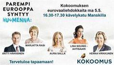 Lisa Sounio-Ahtisaari mukana Kouvolan Kokoomus -tapahtumassa