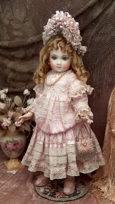 "French Doll by A. Thuillier marked A9T, 22"" Tall 