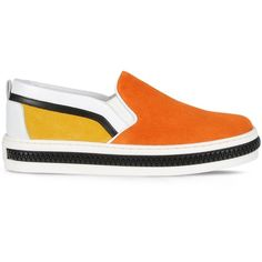 Sergio Rossi Totem ($520) ❤ liked on Polyvore featuring shoes, orange, sergio rossi shoes, sergio rossi and orange shoes