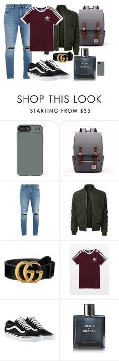"""""""Walt (1)"""" by jos6 on Polyvore featuring Under Armour, Neuw denim, LE3NO, Gucci, Vans, Chanel, men's fashion and menswear"""