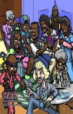 Martin Lawrence Martin Tv Show Characters 11 x 17 by StreetRebirth
