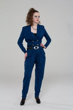 Awesome 80's Pants Suit - Power Dressing Retro Style!