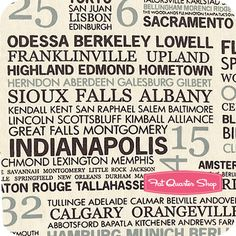 This fabric is Hometown by Sweetwater!  I love it, if you look close it has Aberdeen listed!