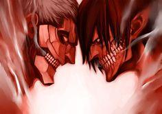 Shingeki no Kyojin, Rogue Titan vs Armored Titan | Attack on Feels ...
