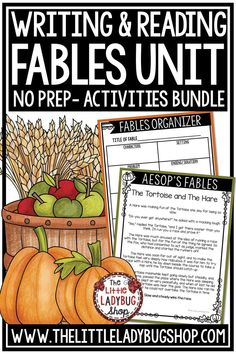 Aesop's Fable Unit is possibly one of my favorite units to teach children! We focused on reading and writing fables during the FALL season in my classroom, and called it Fall Fable Fun! #fablesunit #fallwriting #fallcenters #fallreading #fableswriting #writingcenters