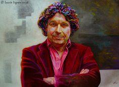 Portrait Painting .  Acrylic on Board . 77cm x 110cm .