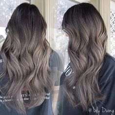 Long Wavy Ash-Brown Balayage - 20 Light Brown Hair Color Ideas for Your New Look - The Trending Hairstyle Ash Brown Balayage, Blonde Balayage Highlights, Brown Hair With Blonde Highlights, Balayage Ombré, Ash Brown Ombre, Bayalage, Light Ash Brown Hair, Ash Brown Hair Color, Brown Hair Shades