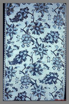 American Printed Textile | ca.1750-75  Textile Hanging Date: ca. 1750–75 Geography: Mid-Atlantic, New York, United States Culture: American Medium: Linen, resist-dyed, printed Dimensions:...