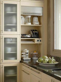 45 Good Smart Small Kitchen Design Ideas - Smart House - Ideas of Smart House - 45 Good Smart Small Kitchen Design Ideas Kitchen Room Design, Kitchen Cabinet Design, Modern Kitchen Design, Interior Design Kitchen, Kitchen Decor, Kitchen Cabinets, Kitchen Ideas, Kitchen Storage, Ikea Kitchen