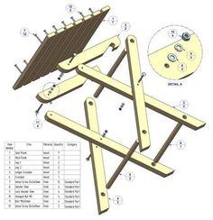 Image result for Civil War Camp Chair Wood Plans Blueprints