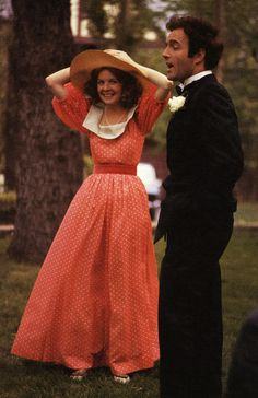 James Caan and Diane Keaton on the set of The Godfather